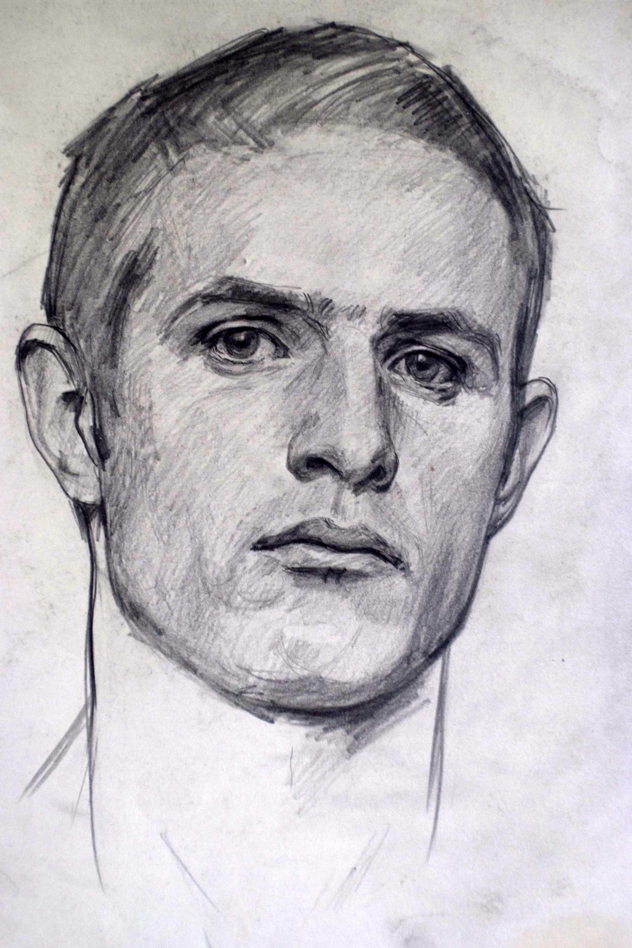 Self portrait robert hannaford 1981 pencil on paper art art