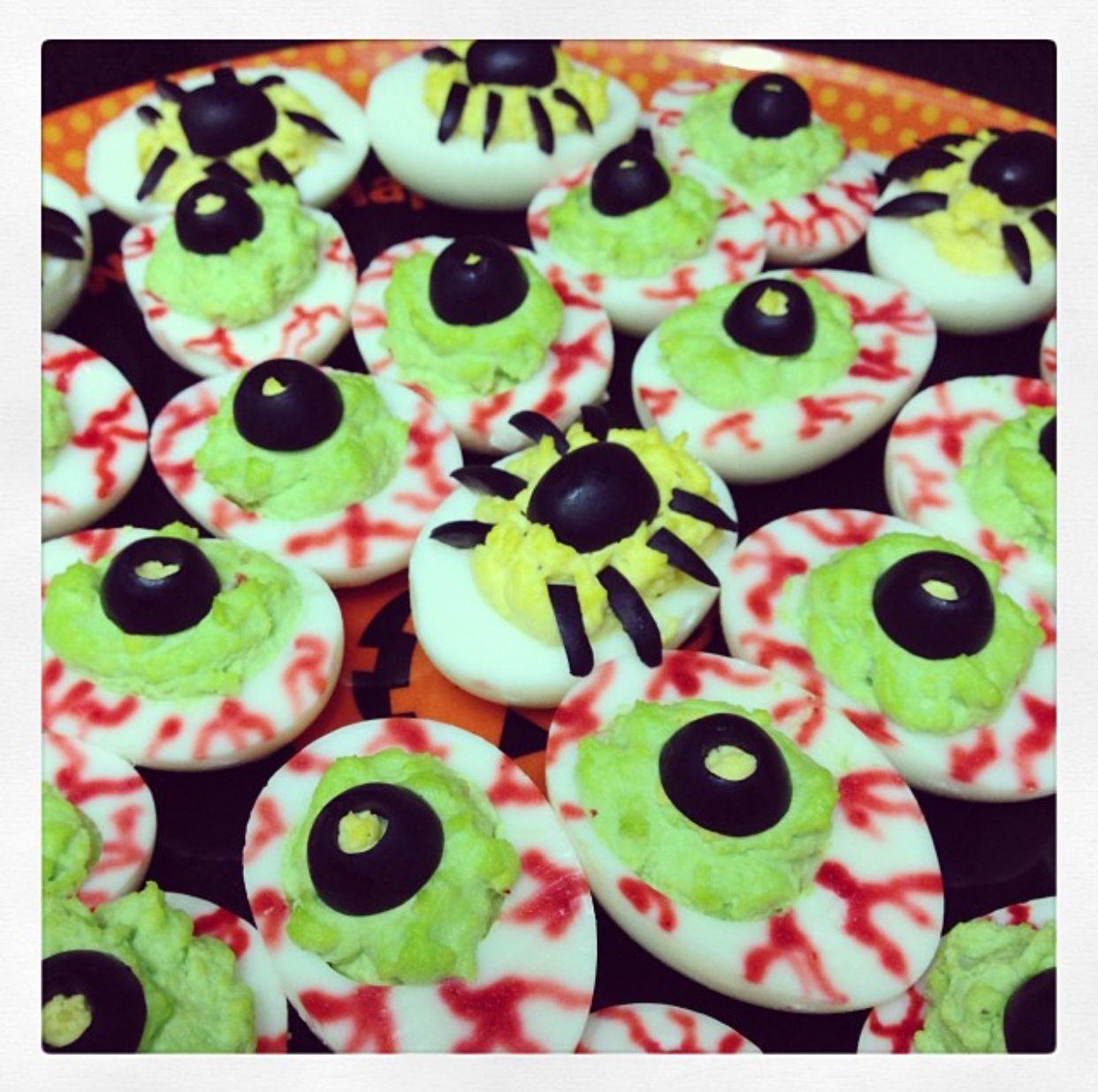 Deviled Egg Eyeballs for Halloween Deviled eggs, Food