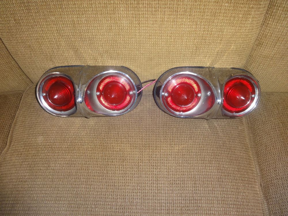Pair of 1958 Chevy Bel AirBiscayneImpala Tail Lights GM