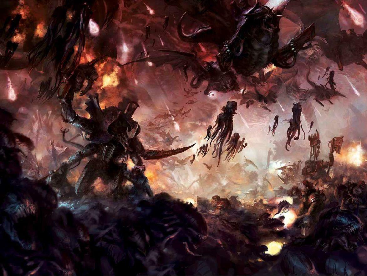 Desktop And Mobile Wallpaper Warhammer 40k Artwork Warhammer 40k Tyranids Warhammer