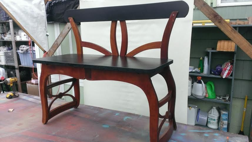 White Twin Bed Headboard Bench Chairs Repurposed Recycled Furniture Industrial Design Furniture