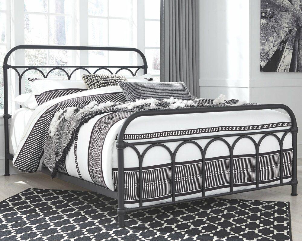 Varela Standard Bed Queen Metal Bed Black Metal Bed Frame