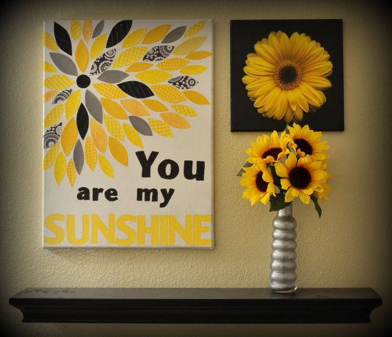 Canvas Wall Decor you are my sunshine canvas wall decor | canvas wall decor, canvas
