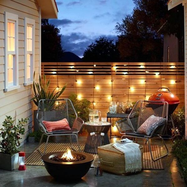 Terrace lighting – stage free for the outdoor living room #outdoorpatiodecorating