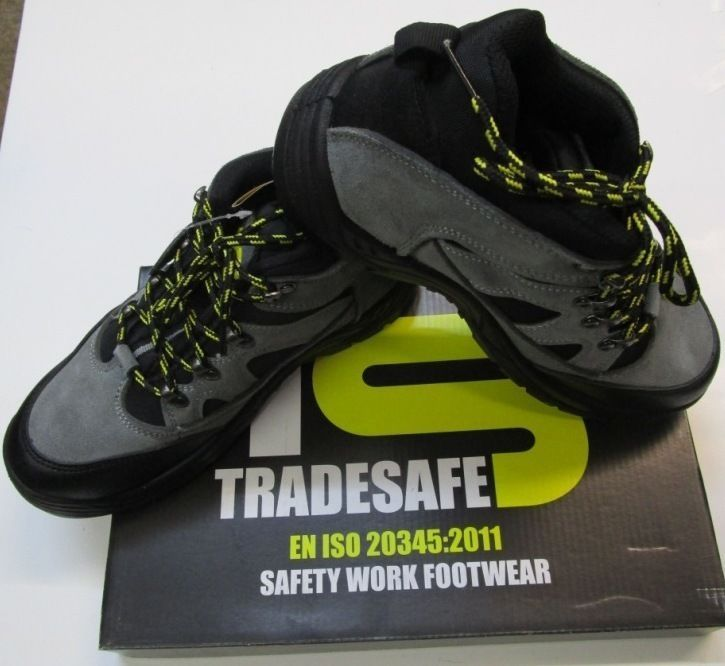 TRADE SAFE LEATHER STEEL TOE CAP SAFETY