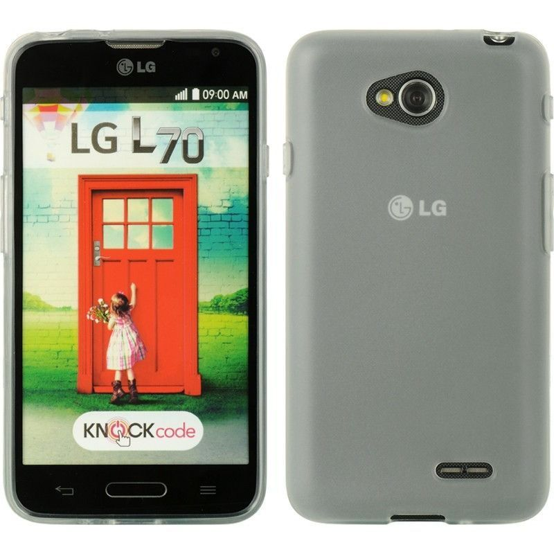 DW Premium TPU Skin Case for LG Optimus L70 (Exceed 2) - Tinted Clear