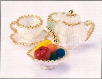 Miniature Tea Set - Patterns by Jill Oxton