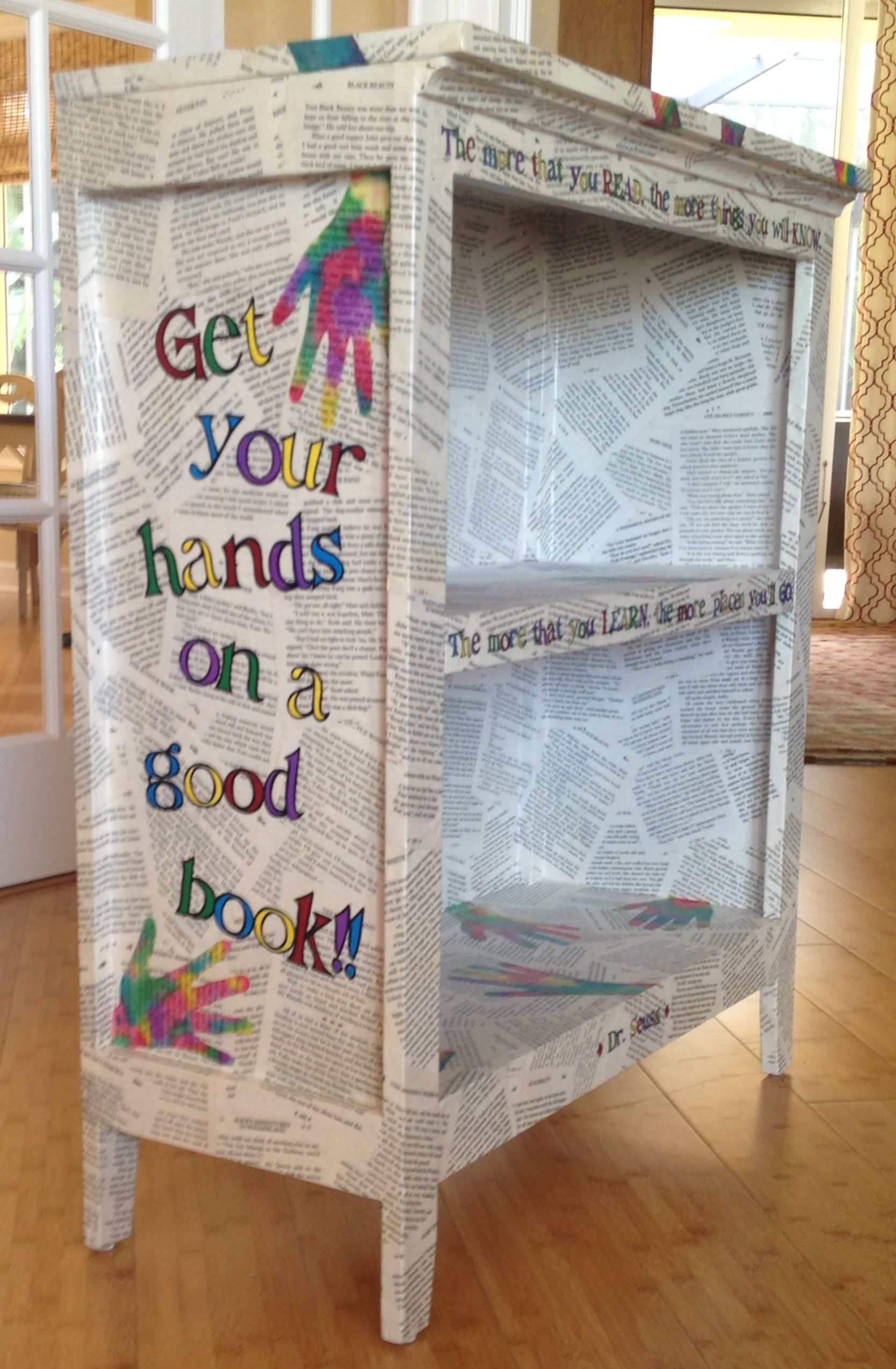 silent auction  class craft  this is the bookcase i made