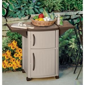 Suncast Serving Station Patio Cabinet Dcp2000 Patio Storage