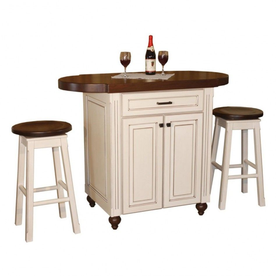 Kitchen Fancy Small Kitchen Island Cart With Stools Along With ...