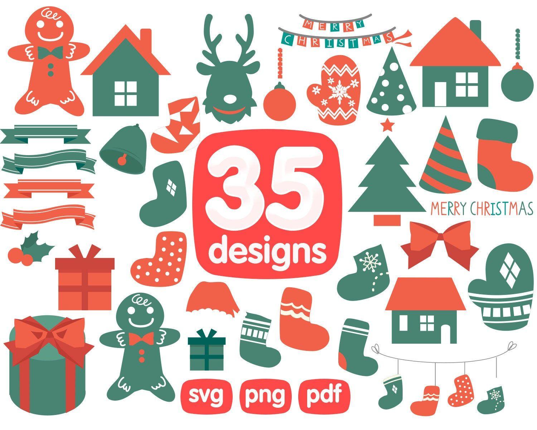 Christmas BUNDLE graphic set, Christmas clipart commercial