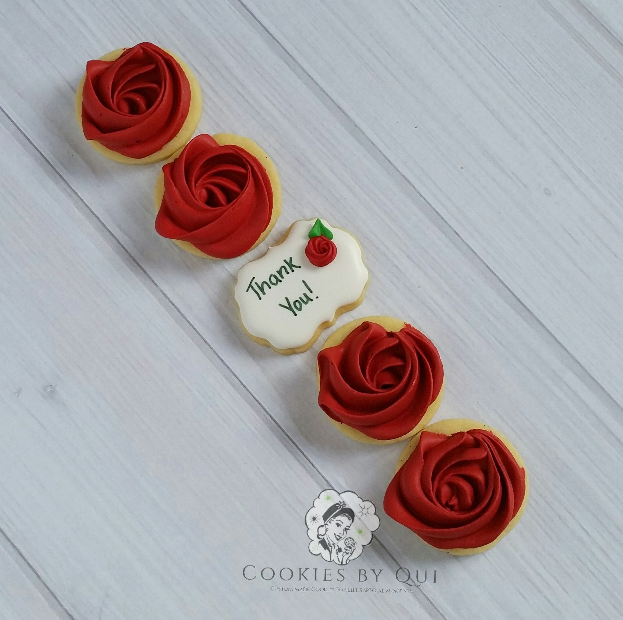 Photo of Mini Rose Thank You Cookies – Cookies by Qui Geelong
