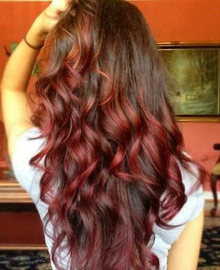 Rot Braun Ombre Hair Color Frisuren In 2019 Haar Ideen