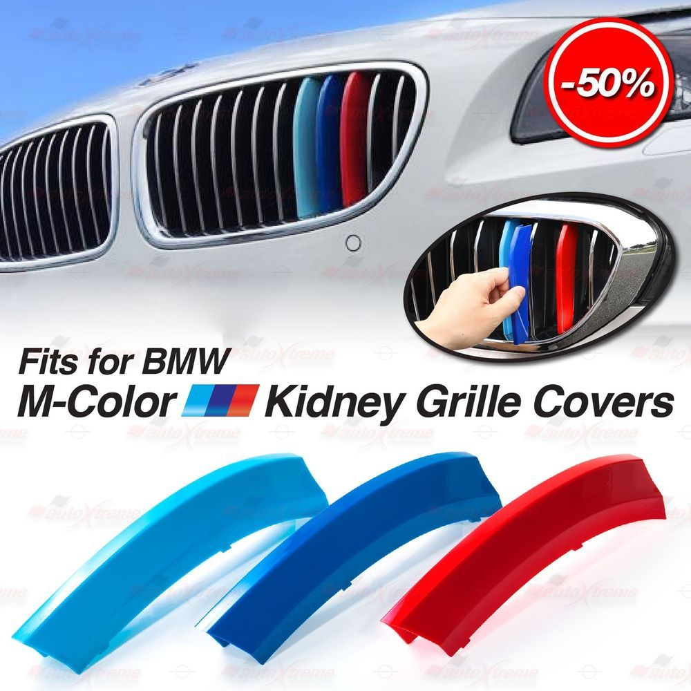 M Sport Tech Performance Kidney Grille 3 Color Cover Insert Clip Trim for BMW US