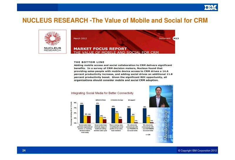 value of mobile and social for crm