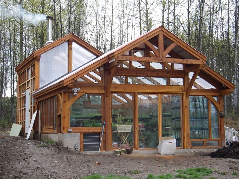 timber frame greenhouse - Google Search - Gardening Gazebo << I ...