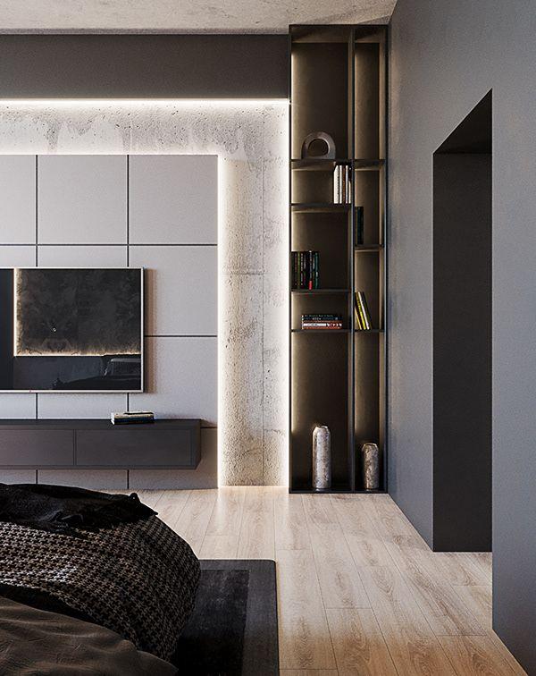 Tv Unit Design For Livig Room: BLACK APARTMENT - Dezign Ark (Beta)