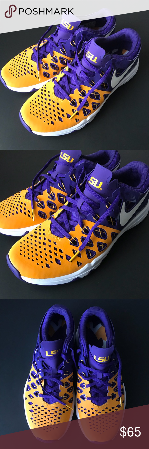 212c62d2cbb199 NIKE LIMITED EDITION LSU TIGERS TRAIN SPEED SHOES Men s 11.5 New Without  Box Nike Shoes Athletic Shoes