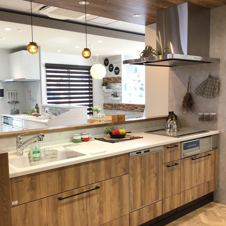 キッチン リフィット I型 ペニンシュラ型 対面式 レイアウトの設置イメージ 甲府ショールーム タカラスタンダード 2020 リビング キッチン I型キッチン キッチンデザイン