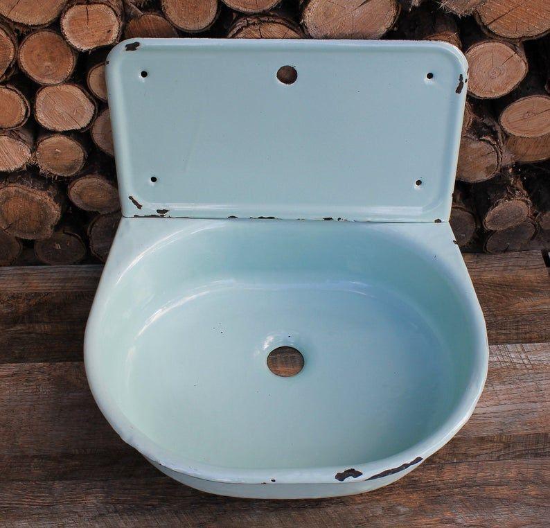 Sink Enamel Kitchen Sink Vintage Farmhouse Sink Vintage Bathroom Sink Antique Sink Sovie Vintage Farmhouse Diy Dekoration Spulbecken