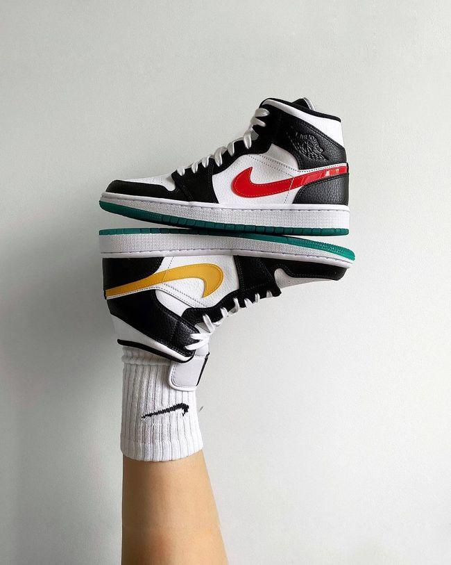 Air Jordan 1 Mid Alternate Swoosh in 2020 | Air jordans, Nike air ...