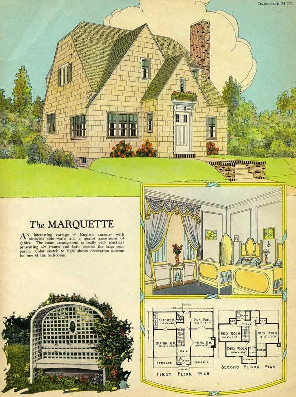 Radford 1925 Marquette House Plan English Cottage House Plans With Pictures House Plans Vintage House Plans