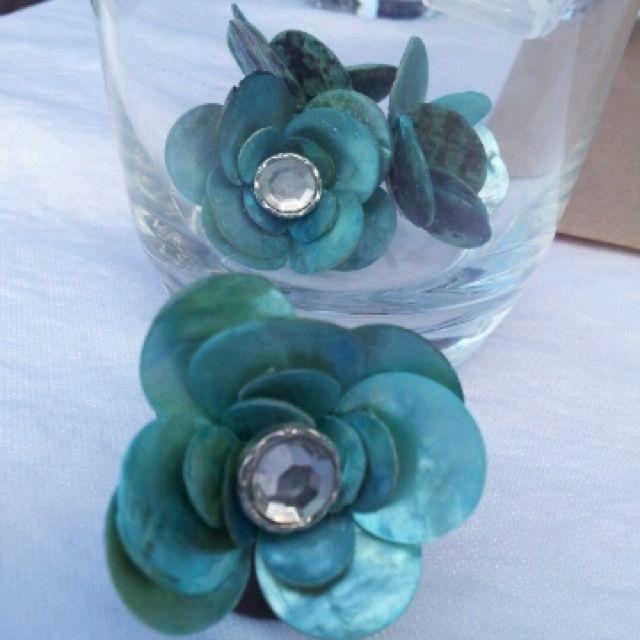 Handmade shell rings