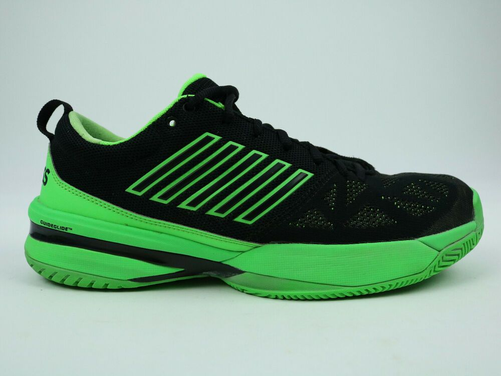 K Swiss Men S Tennis Shoe Size Us 10 5 Eu 44 05397 398 M Low Mens Green Black Kswiss Tennisshoes Neon Shoes Mens Tennis Shoes Shoes Mens