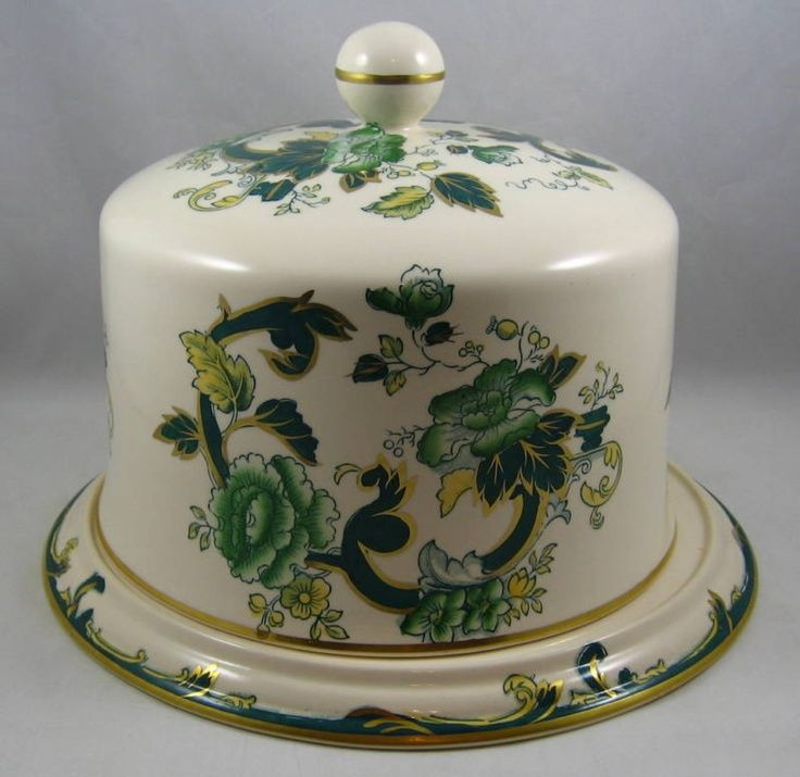 victorian cake domes | Masons Mandalay-Chartreuse Dome Covered Cake Plate. & victorian cake domes | Masons Mandalay-Chartreuse Dome Covered ...