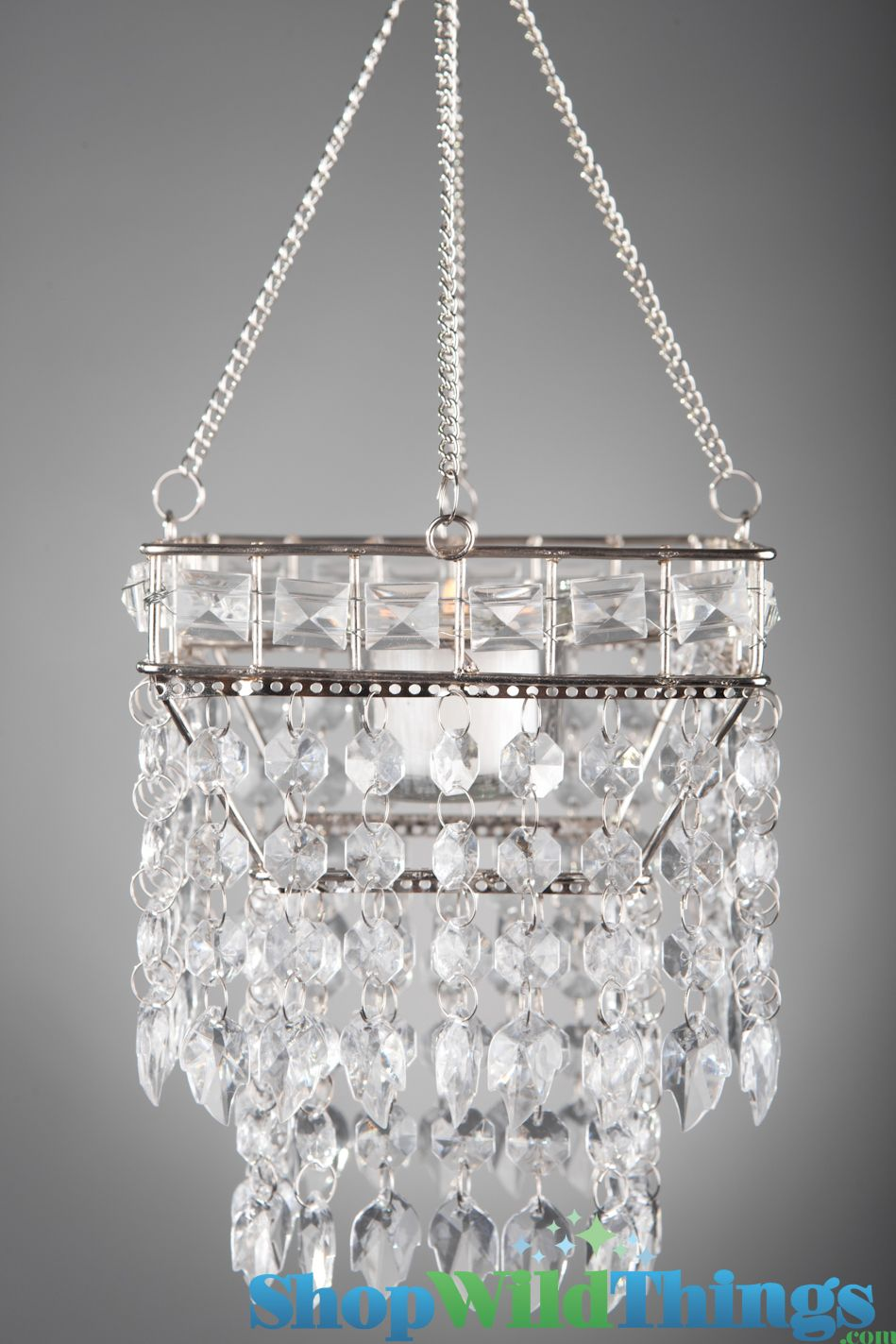 Hanging beaded candle holder noor 5 square decor pinterest youll love this large beaded hanging chandelier it holds one glass cup that can accommodate 1 tealight or short votive candle arubaitofo Gallery