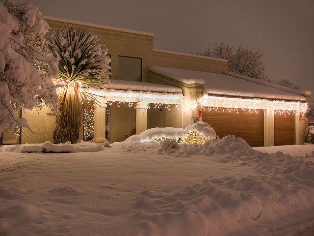 Home by mhohimer, via Flickr #snow #Christmas #light