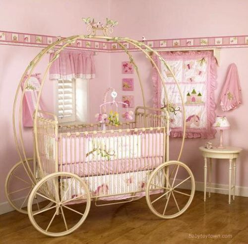 Cinderella crib Baby girl room, Girl room, Princess nursery