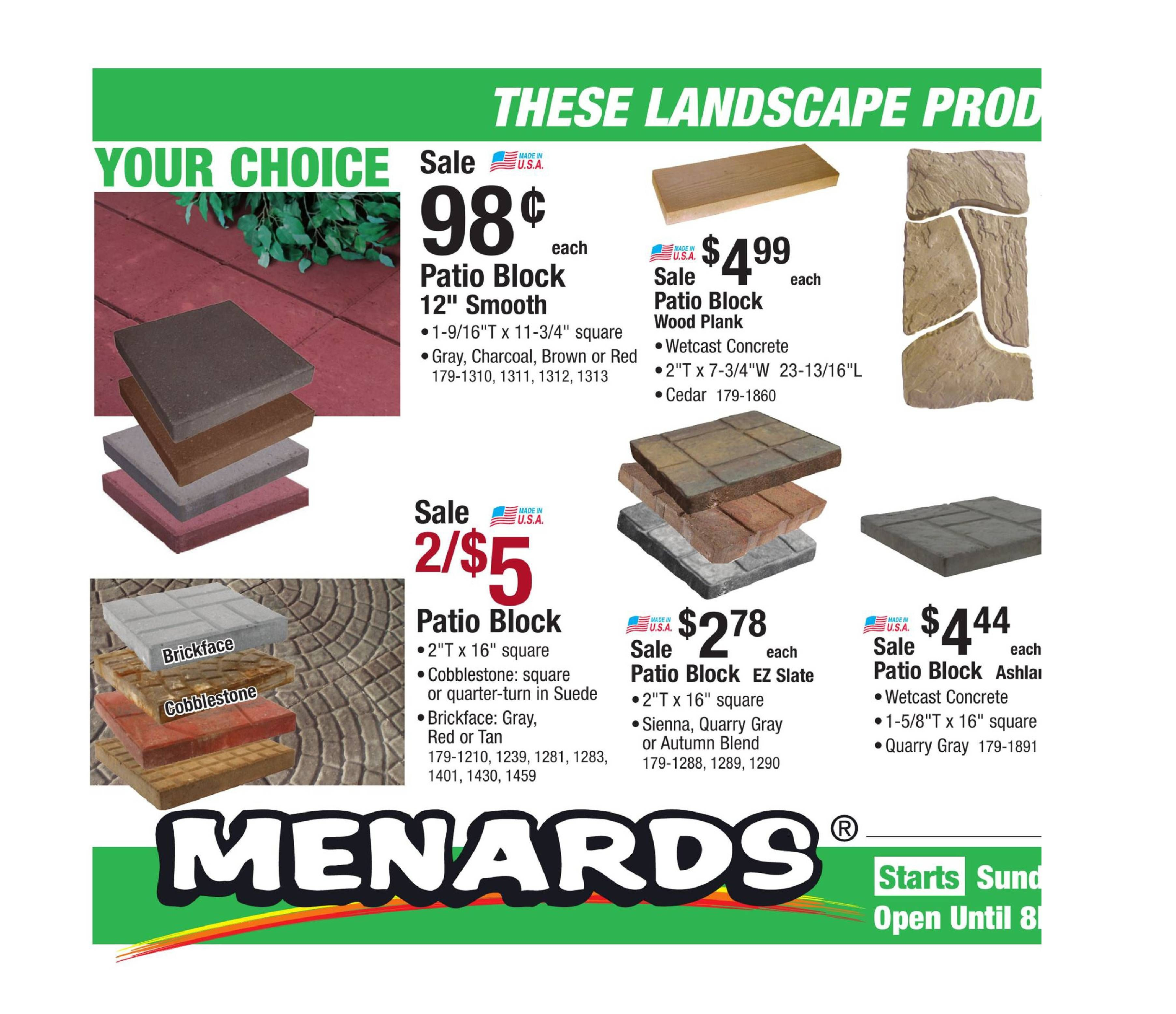 Menards Weekly Ad July 2 15 2017