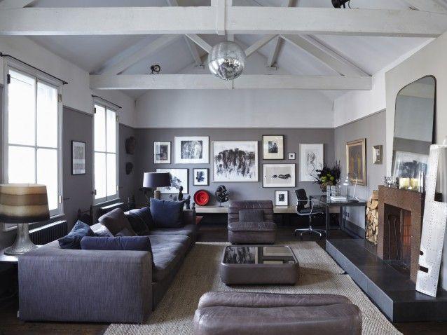 interior, #grey mum Pinterest Malen, Innenräume und Farrow Ball - wohnzimmer einrichten grau lila