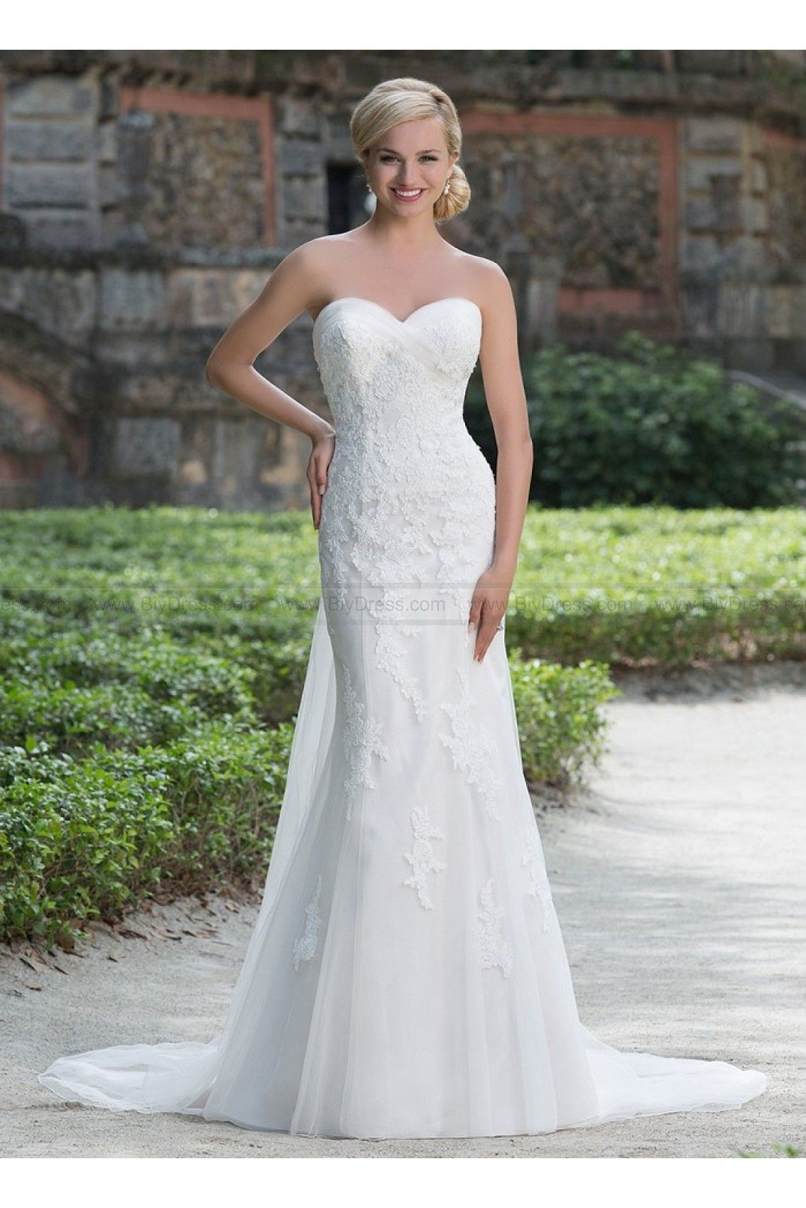 Sincerity Bridal Wedding Dresses Style 3876 romantic lace and tulle ...