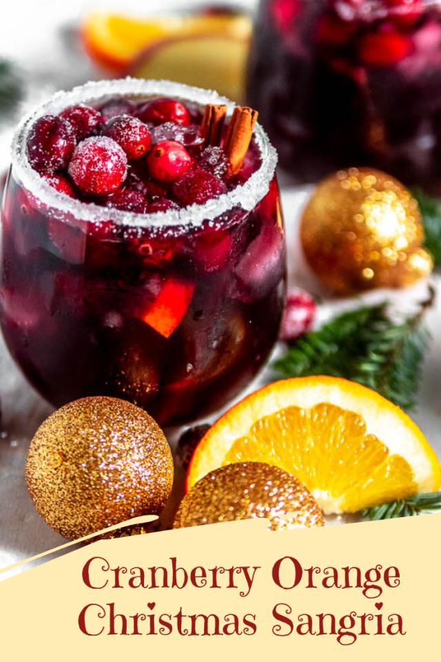 Christmas Sangria.Cranberry Orange Christmas Sangria