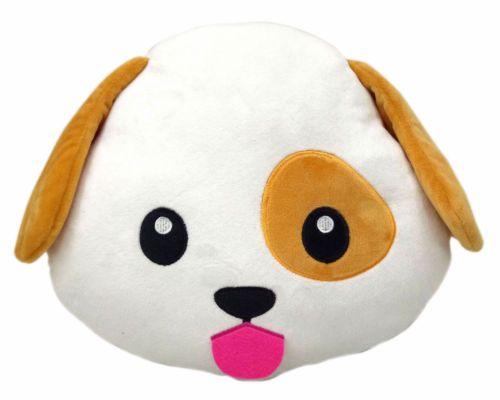 Details About Dog Puppy Emoji Pillow Emoticon Cushion Soft Smiley