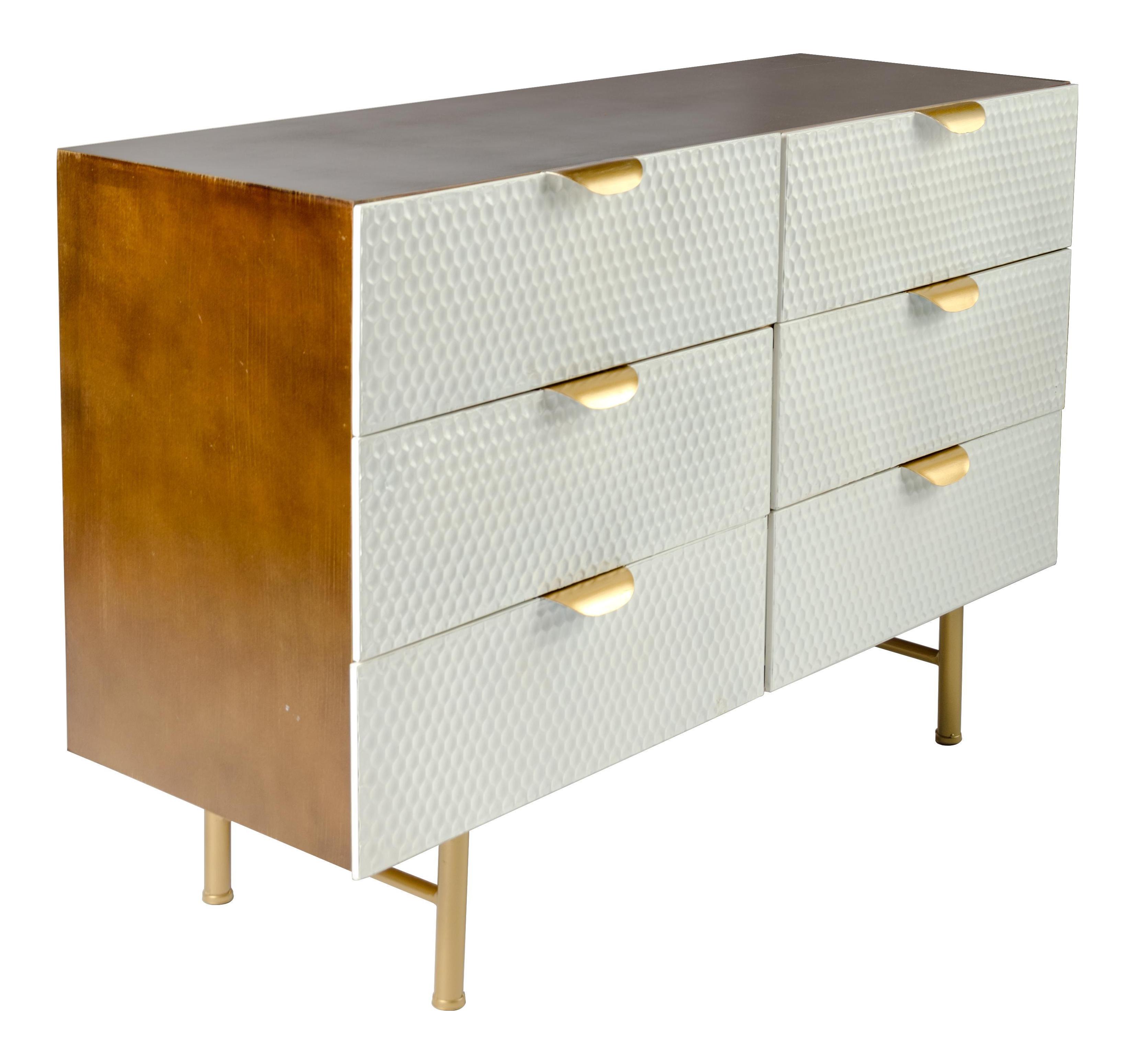 Honeycomb White Gold Dresser Gold Dresser White Dresser Home