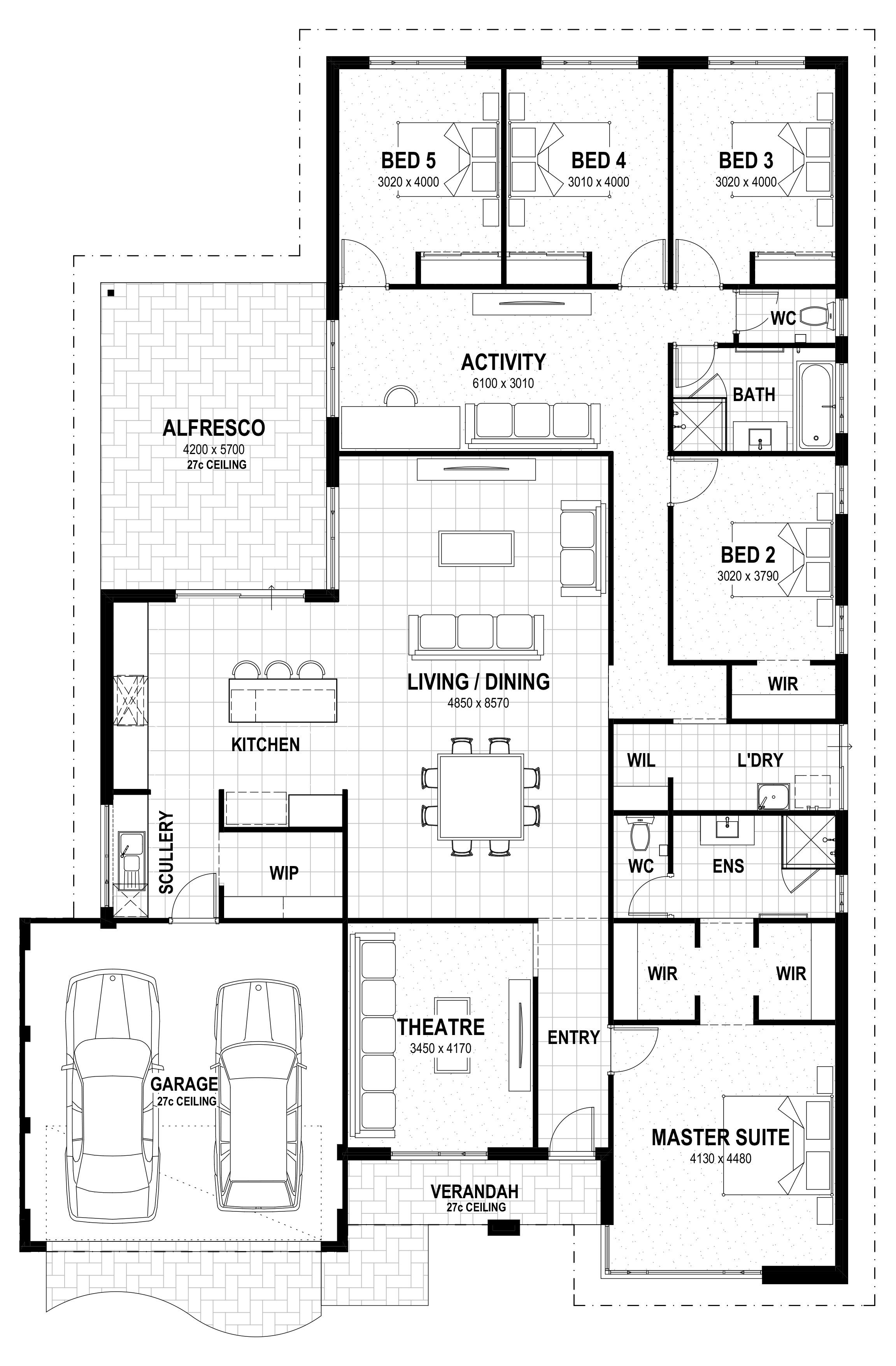 5 Beds Grand 17 Floorplan