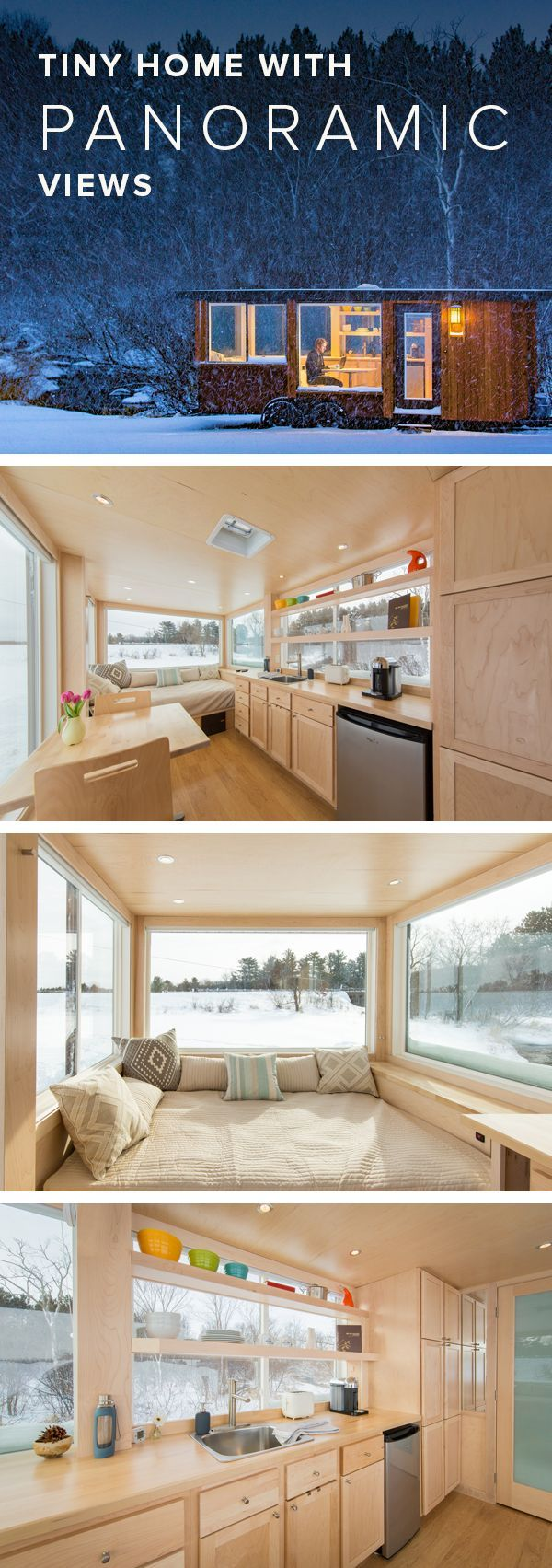 Window design for small house  small home big views see inside this stunning tiny home  tiny