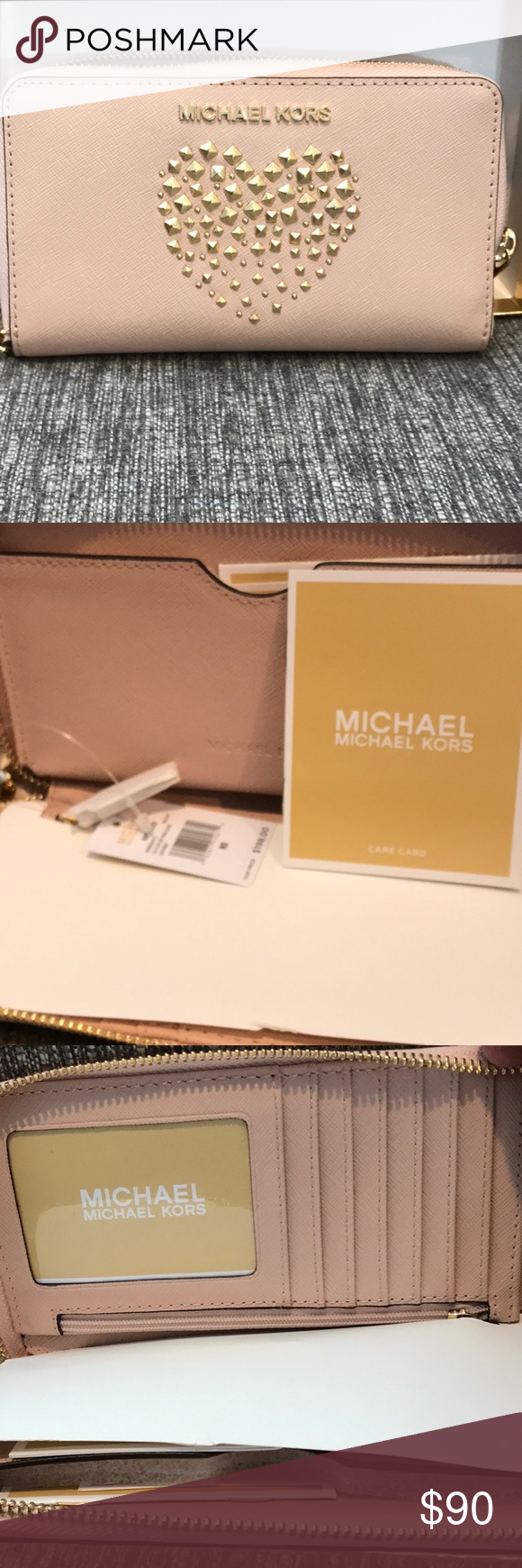 44139ca9af454d NWT MICHAEL KORS WRISTLET WALLET CLUTCH NEW MICHAEL KORS GIFTABLE LARGE  FLAT MULTIFUNCTION PHONE WRISTLET WALLET