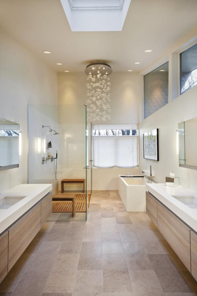 Idée déco salle de bain bois- 40 espaces cosy et chics qui en ...