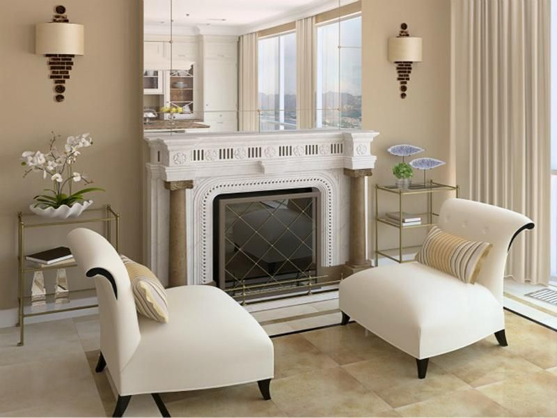 Beautiful Fireplace Decorating With Mirrors Fireplace