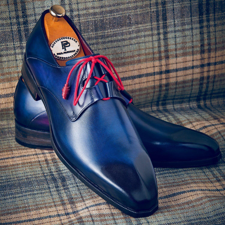 Paul Parkman Ghillie Lacing Blue Dress Shoes Website www