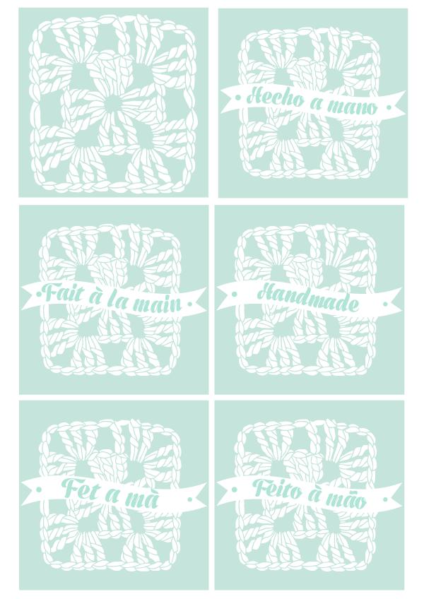 Handmade stamp. Hecho a Mano. Varios idiomas | Quilez Stamps
