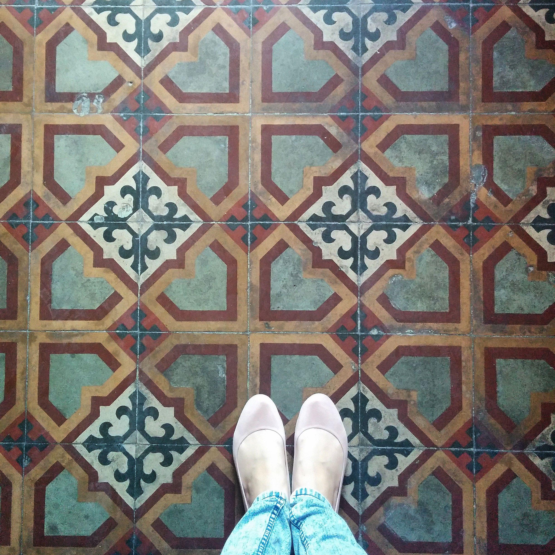 Maltese Tiles Found In A Local Restaurant In Balzan Malta Ink