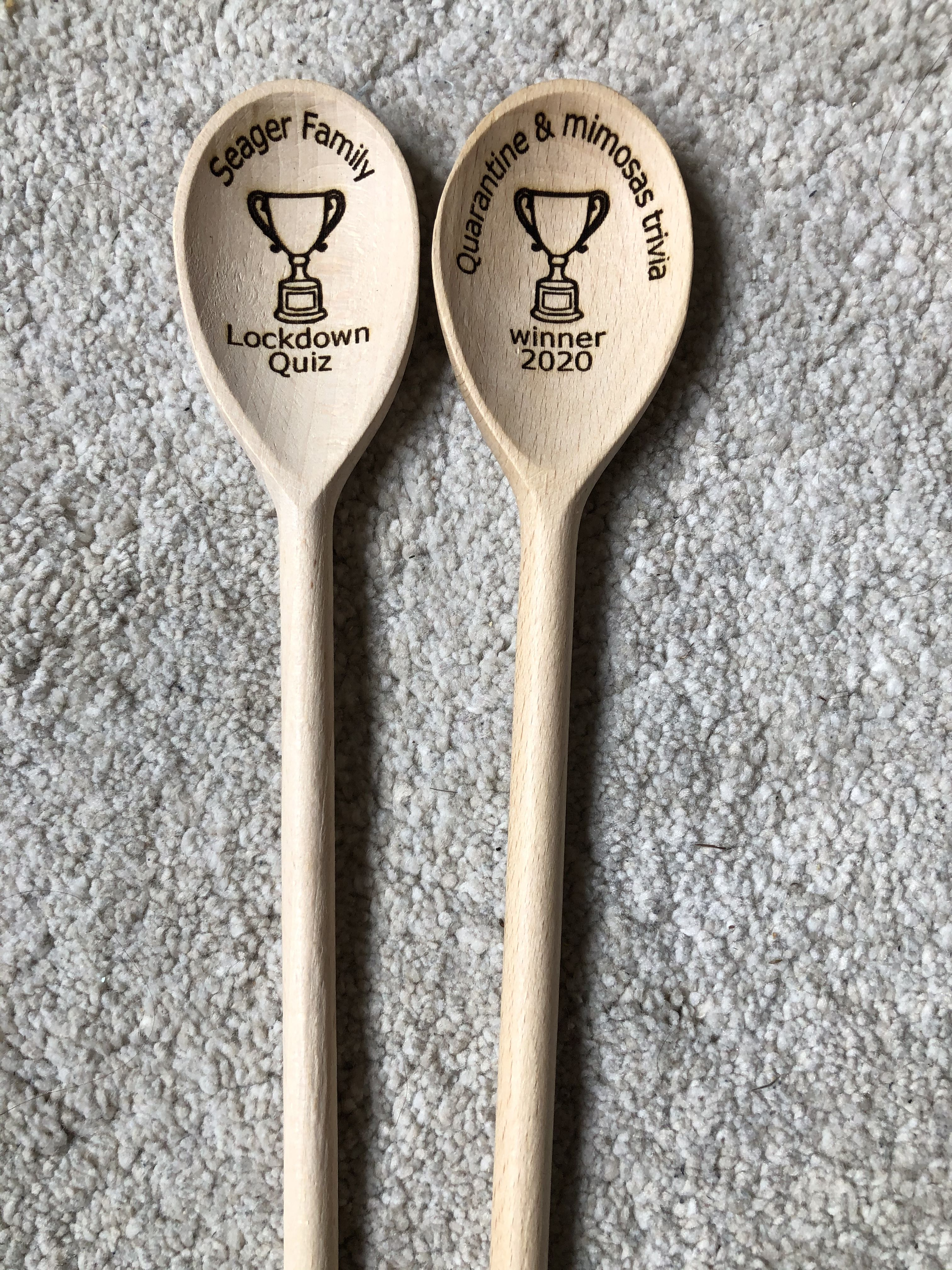 Personalised Engraved Mini Star Wooden Spoon Great Player Team Award