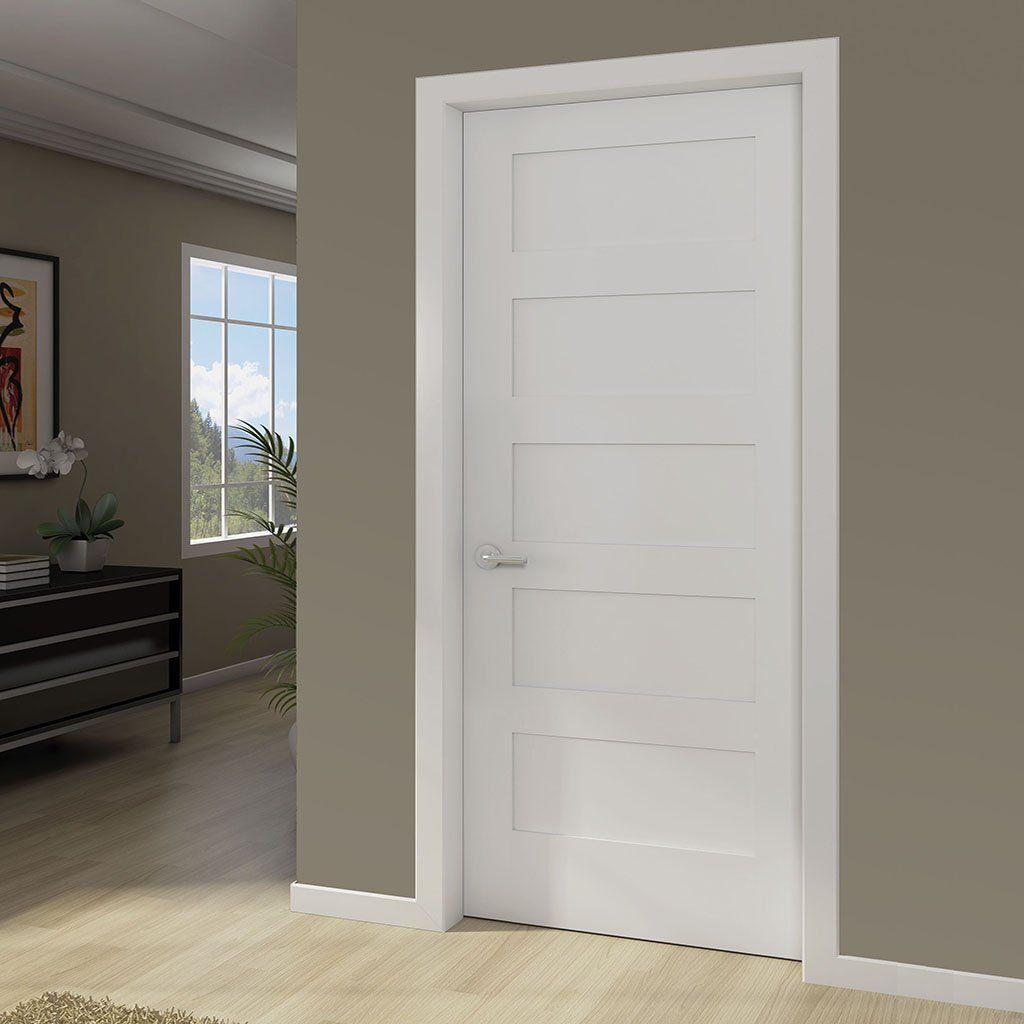 5 Panel Door Kimberly Bay Interior Slab Shaker White Ideas