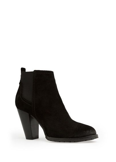 Suede ankle boots with elastic sides