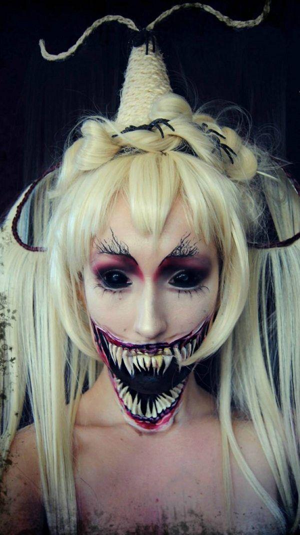 best scary halloween makeup ideas creepy monster teeth horror makeup